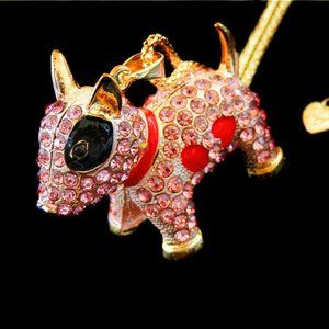 Necklace- NEW- Betsey Johnson- CUTE Dog